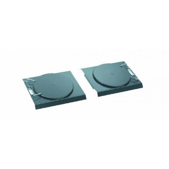 Set of 2 Passenger Car mechanical turntables