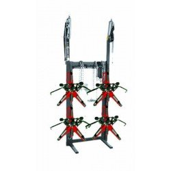 Rack for quick clamps