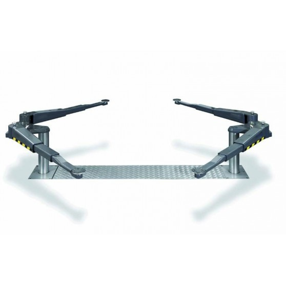Pont VISION III 3,5T bi-vérins - Bras en V Distance extra-large - Hauteur mini 70 mm