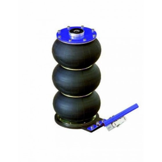 2T portable pneumatic jack - 3 pistons