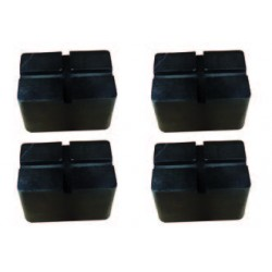 Set of 4 x 100 mm high pads for auxiliary lift
