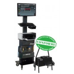 Baie d'analyse tactile - 1 analyseur 4 gaz - 1 opacimètre filaire - 1 lecteur EOBD Bluetooth