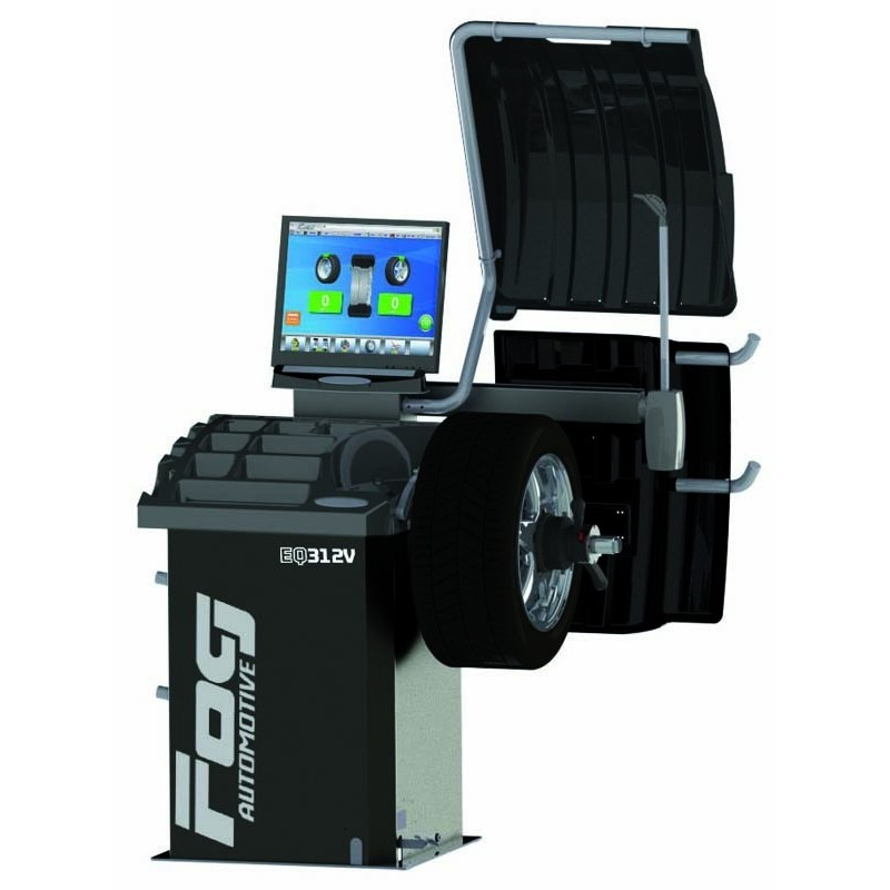 Laser Video wheel balancer with Sonar