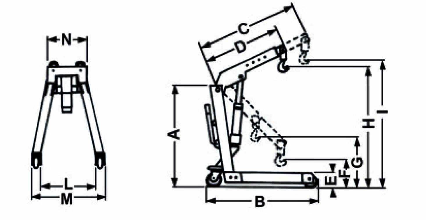 grue hydraulique 1000 kg grues hydrauliques