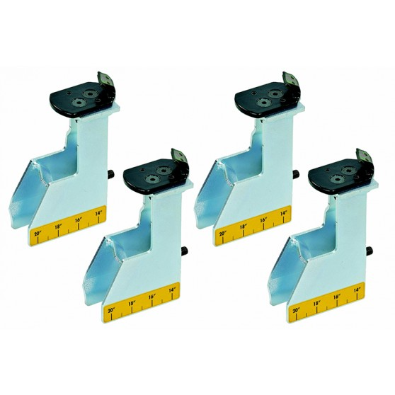 Set of 4 adapters for motorcycle