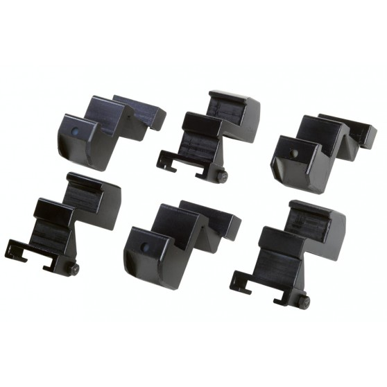 Set of 6 clamp protections for aluminium rims