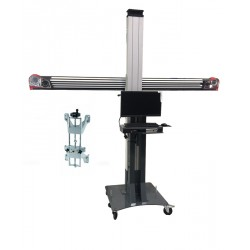 3D wheel aligner - standard movable furniture - 4-point clamps