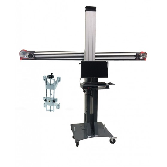 3D wheel aligner - Standard movable furniture - Equipped with 4-point clamps