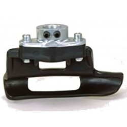 Fixed roller plate to ease bead breaking of heavy wheels