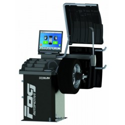 Équilibreuse Vidéo Laser- 2 piges automatiques - Serrage pneumatique - Sonar