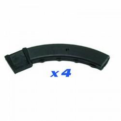 Set of 4 tool-head rubber protections for convex aluminium rims