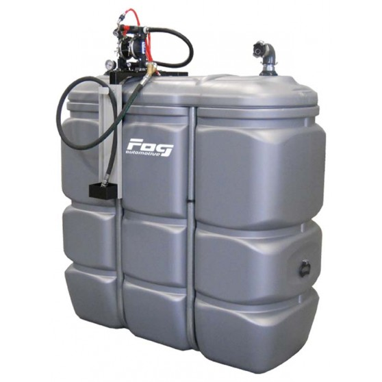 Waste oil PEHD tank 1500 L, with pump