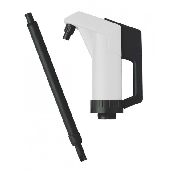 Pump with handle for oil and aggressive products