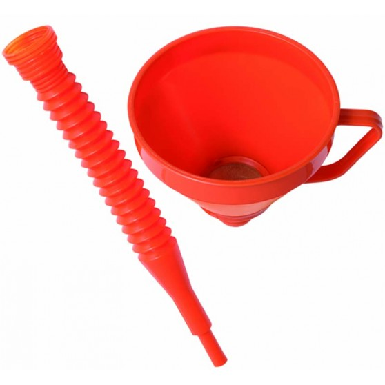 Funnel with flexible adapter