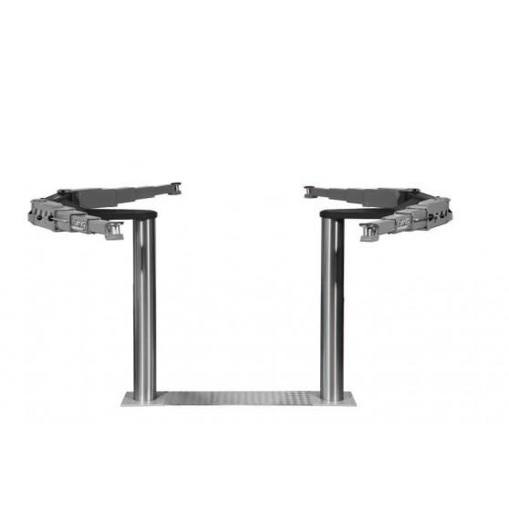 Pont VISION III 6,5T bi-vérins - Bras multifonctionnels et tampons
