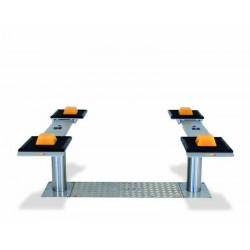 3.5T Inground lift with adjustable platforms
